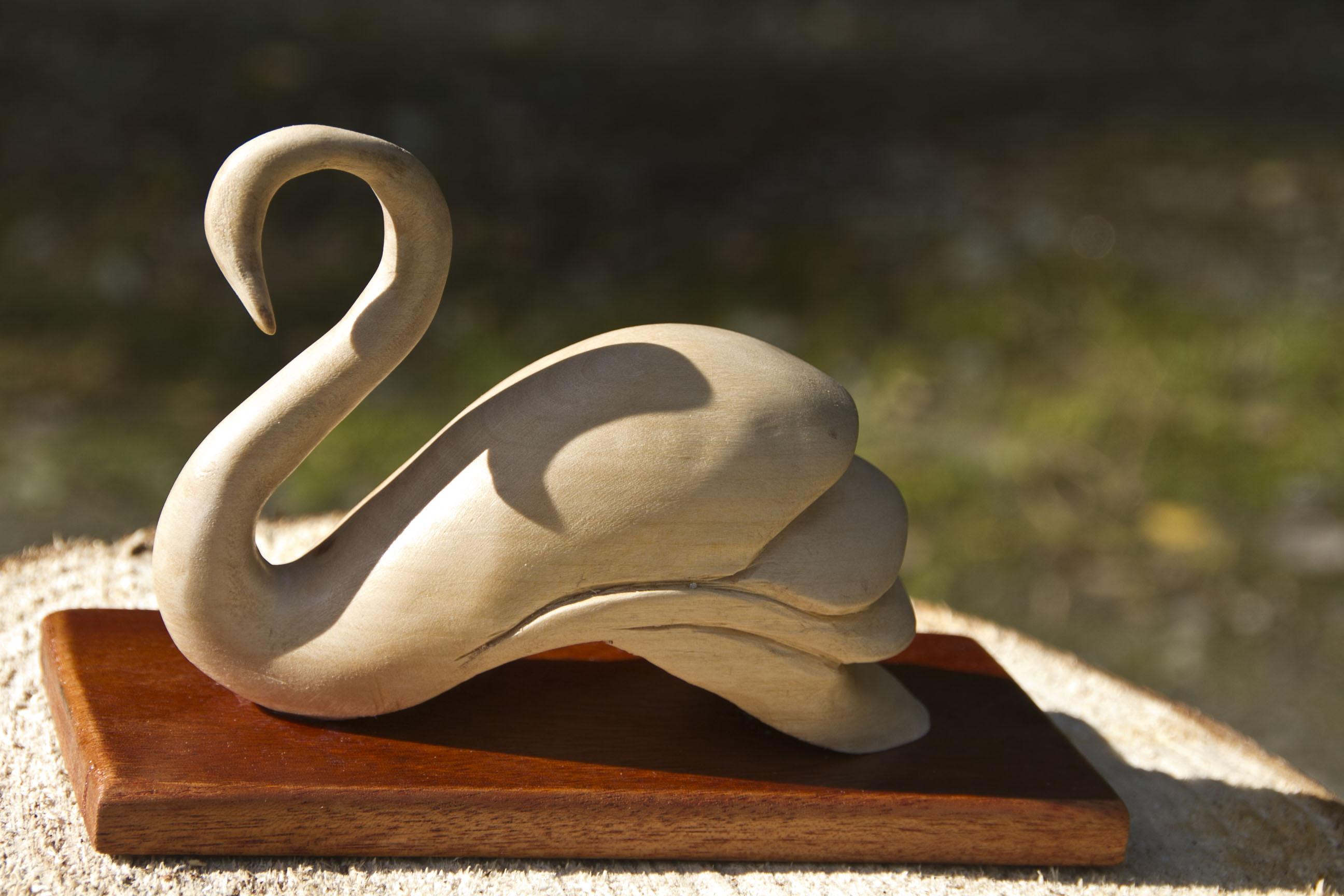 Carved Lime wood SWAN 2