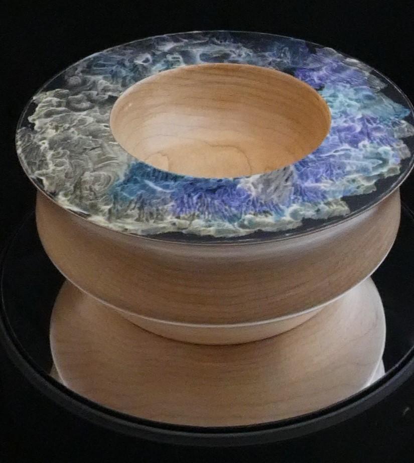 An Ash Bowl with incandescent paint details