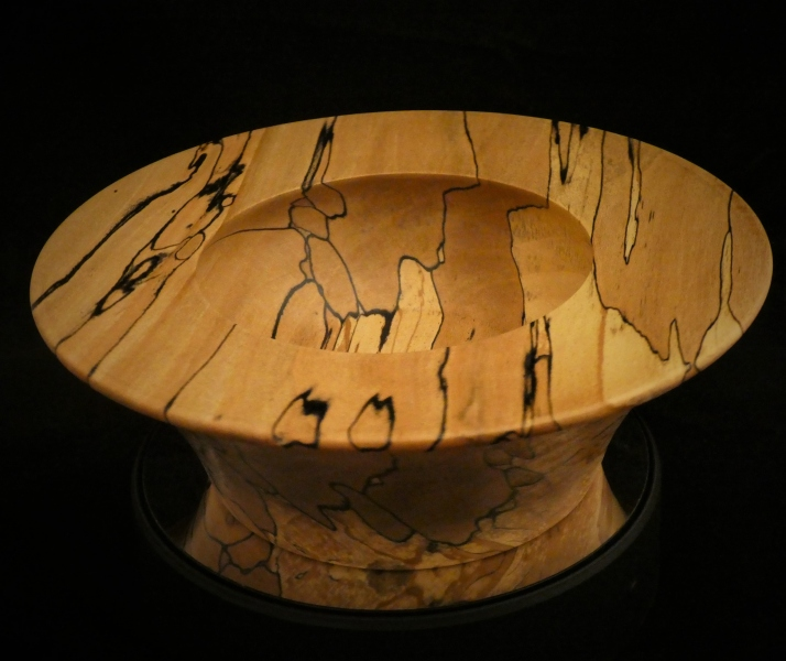 Spalted-Bowl Beech Bowl with great figuring.