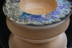 An Ash Bowl with incandescent paint details